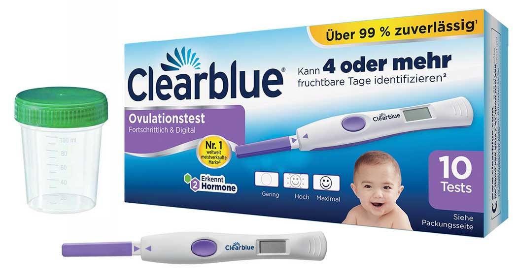 Clearblue Ovulationstest Advanced 2.0 mit dualem Hormonindikator 10 Stück