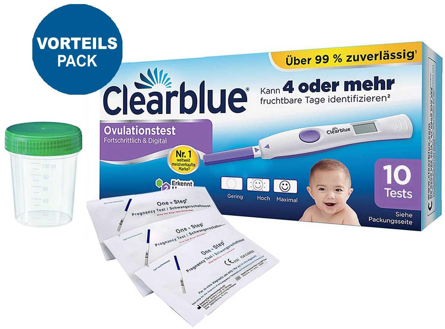 Clearblue Ovulationstest Fortschrittlich & Digital, 10 Tests, 1er Pack (1 x 10 Stück) plus 10 OneStep Schwangerschaftstests 10 miu_ Amazon.de_ Drogerie & Körperpflege