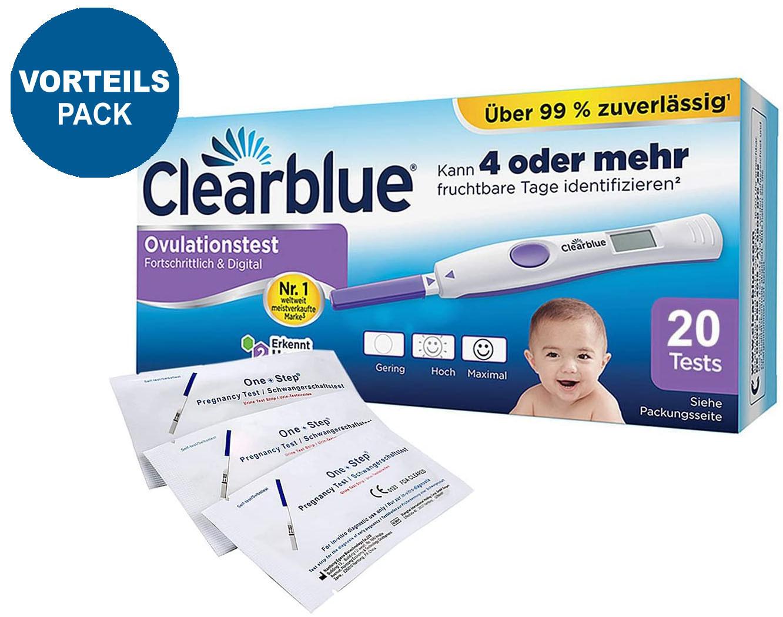 Clearblue Ovulationstest Fortschrittlich & Digital, 20 Tests, 1er Pack (1 x 20 Stück) plus 5 OneStep Schwangerschaftstests 10 miu_ Amazon.de_ Drogerie & Körperpflege.jpg
