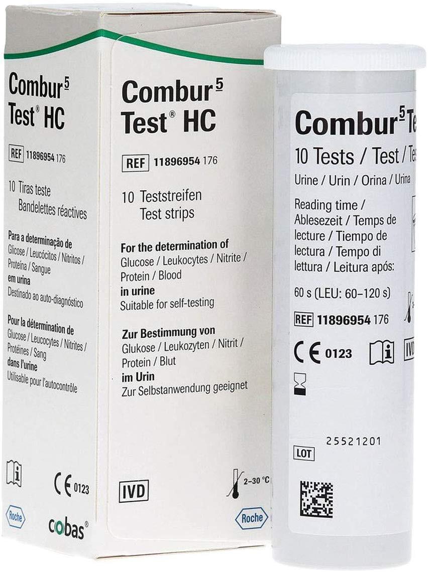 Combur 5 HC Urinteststreifen, 10 Stück
