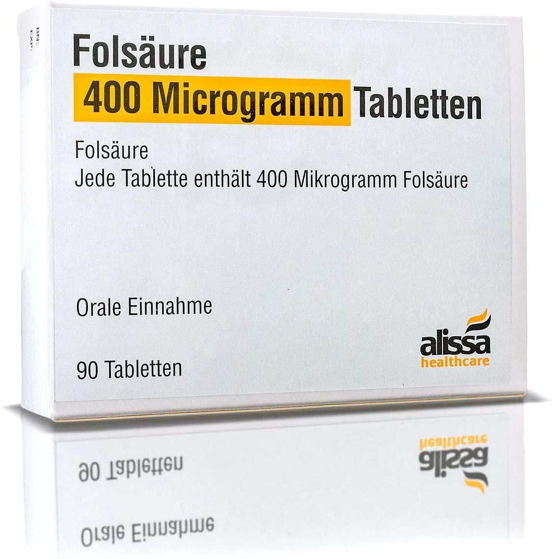Folsäure Tabletten 90 Stück für Kinderwunsch und Schwangerschaft I Optimale Dosierung und hohe Bioverfügbarkeit I Besserer Schutz vor Neuralrohrdefekten I Vor und in der Schwangerschschaft_1