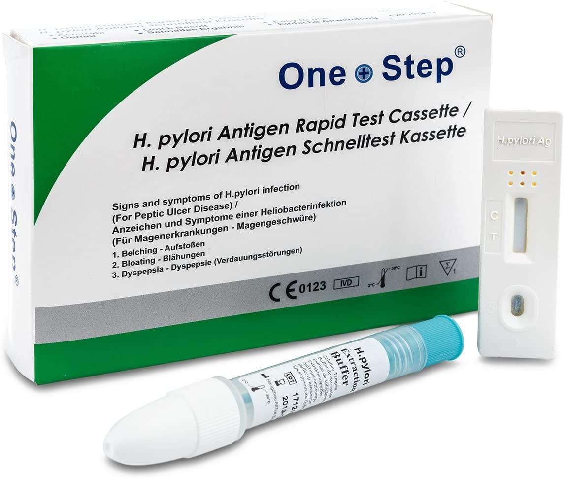 One+Step Helicobacter H.Pylori) Antigen Schnelltestkassette (Stuhl) - Selbstest für Zuhause, 1 Stück_ Amazon.de_ Drogerie & Körperpfleg