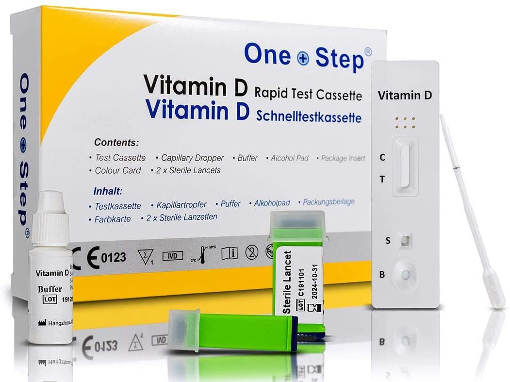One+Step Vitamin D Test Kit I Vitamin D Mangel zu Hause testen I Vitaminmangel erkennen I Vitamin D Spiegel ohne Labor direkt zu Hause auswerten_ Amazon.de_ Drogerie & Körperpflege