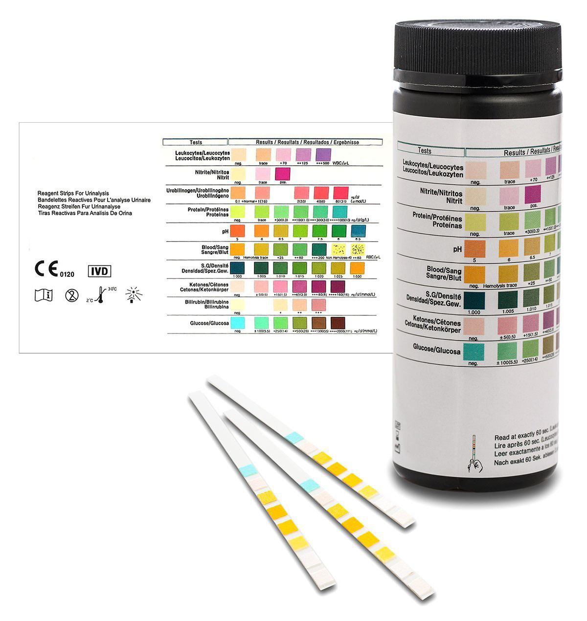 Gesundheitstest, Urinteststreifen für 8 Parameter, 100 Stück