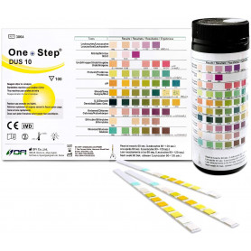 Gesundheitstest für 10 Indikatoren - 100 Urin Teststreifen mit Referenzfarbkarte_ Amazon.de_ Drogerie & Körperpflege