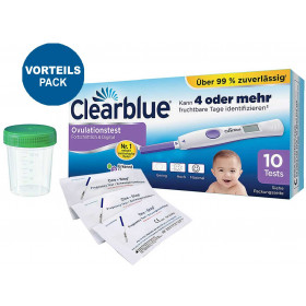 Clearblue Ovulationstest Advanced 10 Stück + 5 Frühtests + 2 Urinprobebecher