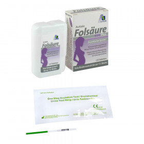 Avitale Folsäure 800 Plus B12+Jod Tabletten + 50 AIDE Ovulationstest