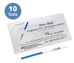 10 x OneStep® Schwangerschaftstests (Frühtest) 10 miu/ml