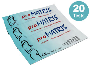 20 x ultraempfindlicher Schwangerschaftstest_proMatris_ - Frühtests_ Amazon
