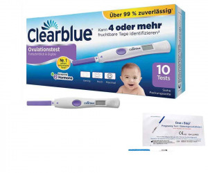 Clearblue Ovulationstest Advanced 2.0 mit dualem Hormonindikator 10 Stück