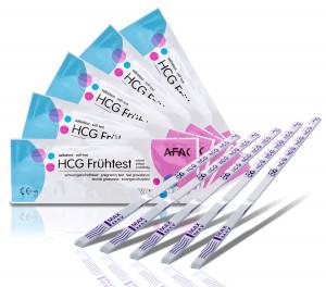 10 x AFAC Schwangerschaftstests (Frühtest) 10 miu/ml + 1 Urinprobebecher