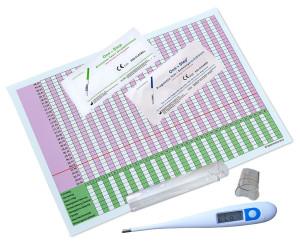 Professionelles digitales Basal-Thermometer inkl. 5 Zykluskalender